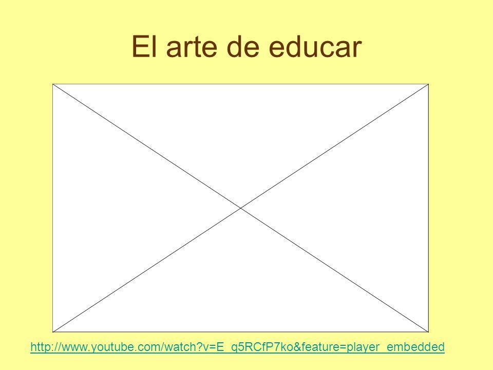 El arte de educar http://www.youtube.com/watch?v=E_q5RCfP7ko&feature=player_embedded