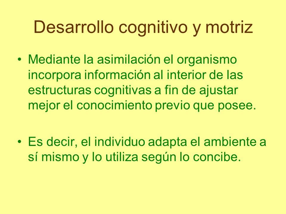 Desarrollo cognitivo y motriz La segunda parte de la adaptación, que se denomina acomodación, se refiere al ajuste del organismo a circunstancias exigentes.