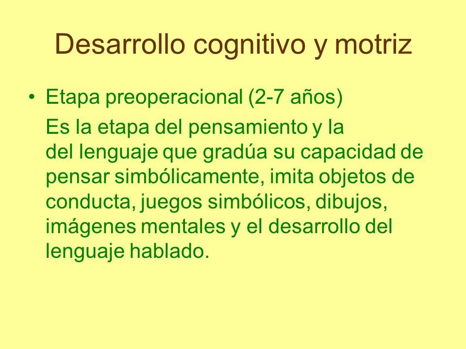 Desarrollo cognitivo y motriz Etapa de operaciones concretas (7-11/12 años) Los procesos de razonamiento se vuelven lógicos y pueden aplicarse a problemas concretos o reales.