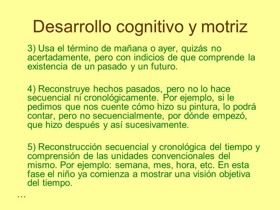 Desarrollo cognitivo y motriz El conocimiento, según Piaget, se divide en lógico-matemático, físico y social.