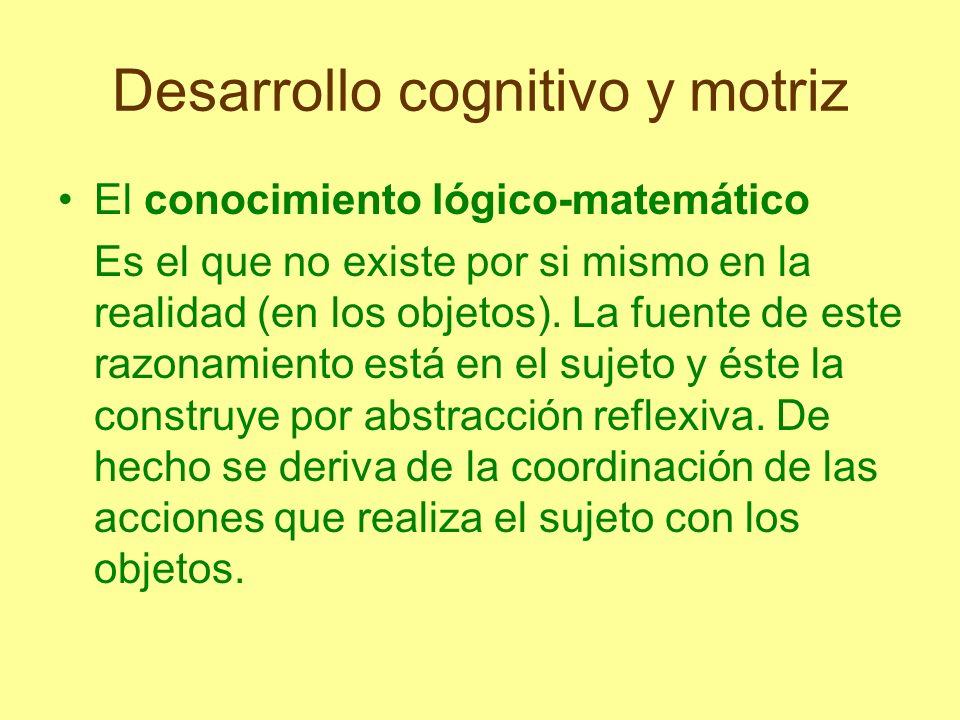 Desarrollo cognitivo y motriz El ejemplo más típico es el número.