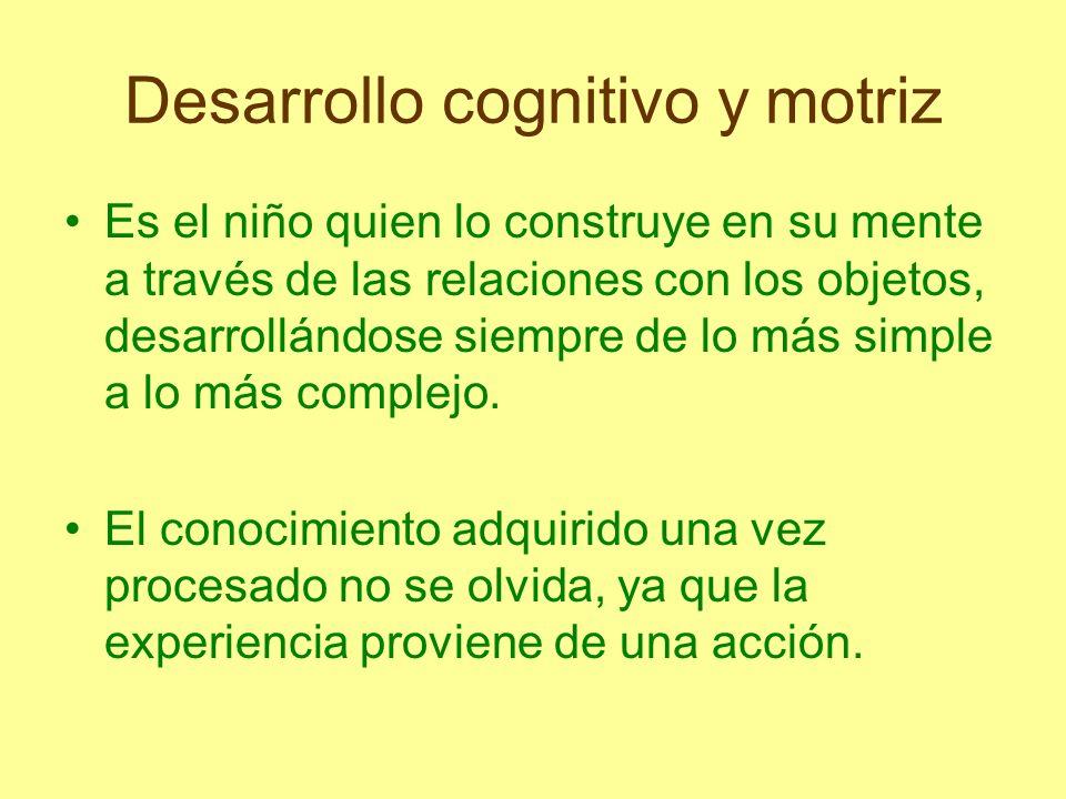 Desarrollo cognitivo y motriz Al superar los obstáculos del pensamiento lógico, el niño comienza a construir conceptos abstractos y operaciones, a desarrollar habilidades que muestran un pensamiento más lógico.