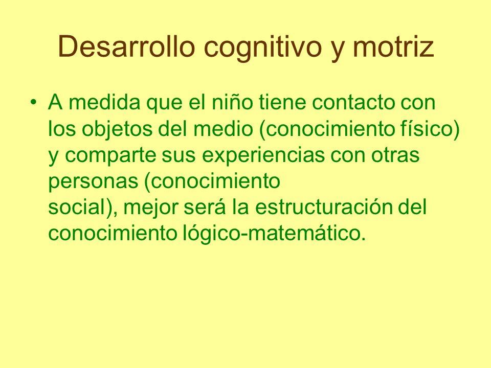Desarrollo cognitivo y motriz El conocimiento social es un conocimiento arbitrario basado en el consenso social.
