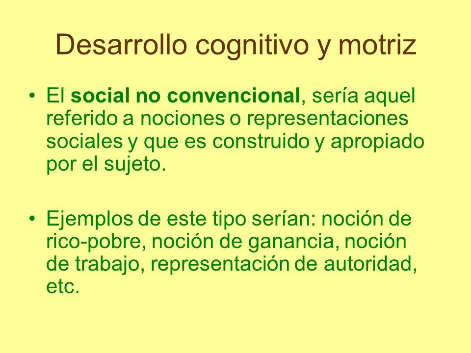 Desarrollo cognitivo y motriz Los tres tipos de conocimiento interactúan entre sí.