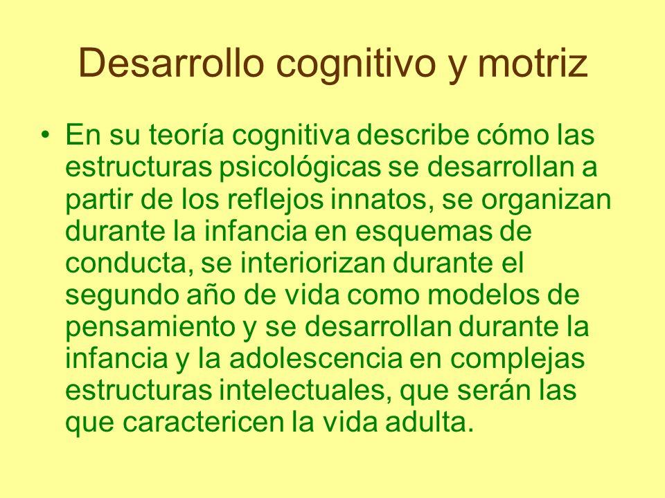 Desarrollo cognitivo y motriz Epistemología Genética: estudió el origen y desarrollo de las capacidades cognitivas desde su base orgánica, biológica, genética, encontrando que cada individuo se desarrolla a su propio ritmo.