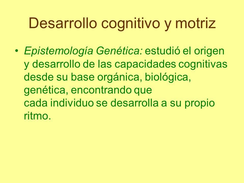 Desarrollo cognitivo y motriz Describe el curso del desarrollo cognitivo desde la fase del recién nacido, donde predominan los mecanismos reflejos, hasta la etapa adulta caracterizada por procesos conscientes de comportamiento regulado.