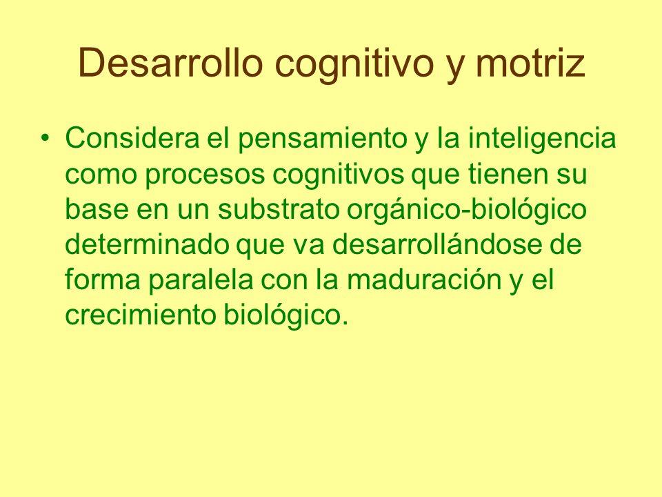 Desarrollo cognitivo y motriz En la base de este proceso se encuentran dos funciones denominadas asimilación y acomodación, que son básicas para la adaptación del organismo a su ambiente.