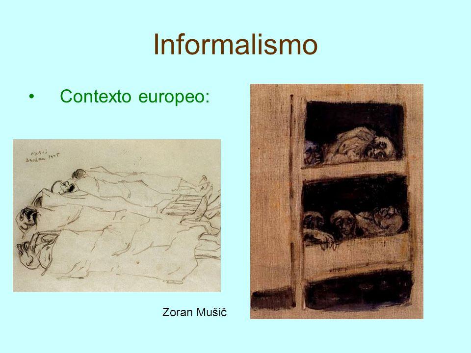 Expresionismo Abstracto Los precedentes del expresionismo abstracto los encontramos en Europa en la abstracción de Kandinsky, la transformación de la realidad de Kokoschka y en las técnicas de impacto de Nolde y Rouault.