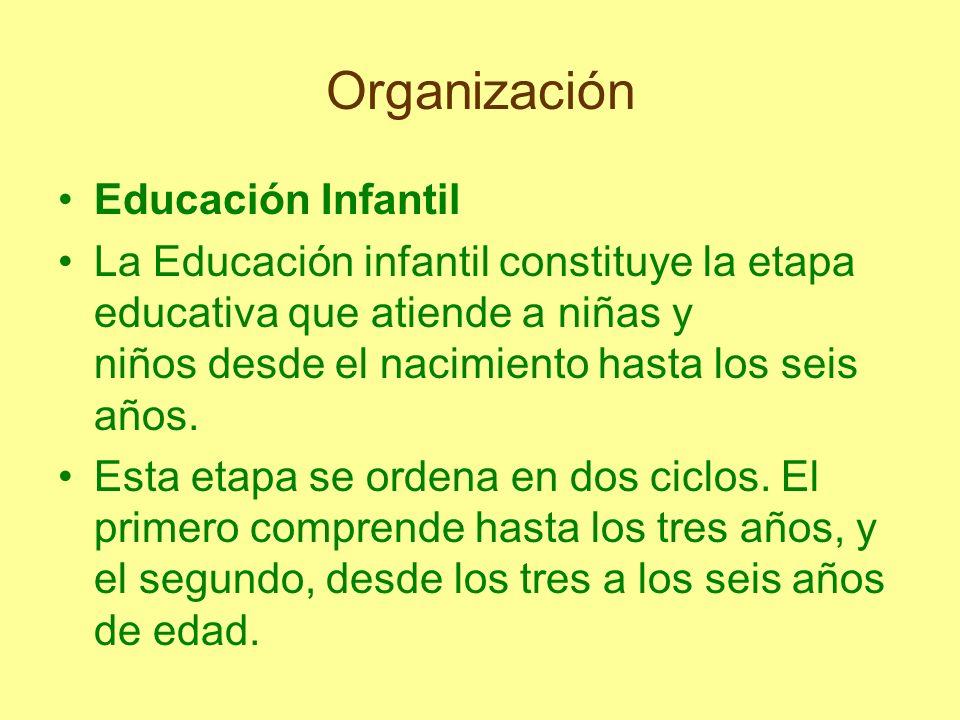 Organización La finalidad es la de contribuir al desarrollo físico, afectivo, social e intelectual de los niños y las niñas.