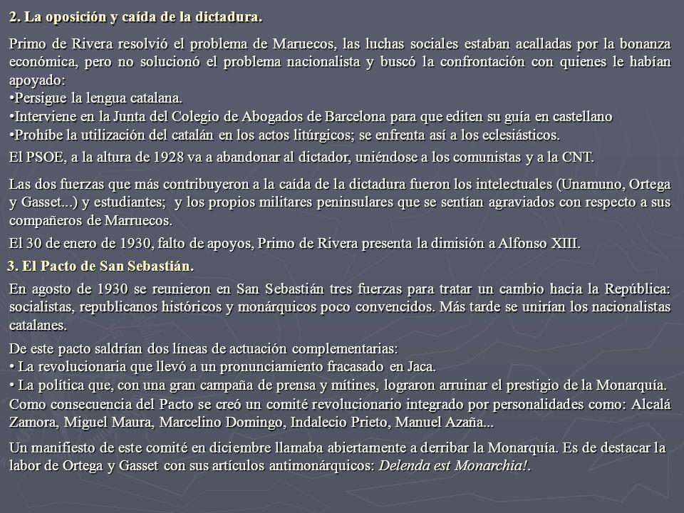 Primo de Rivera resolvió el problema de Maruecos, las luchas sociales estaban acalladas por la bonanza económica, pero no solucionó el problema nacion