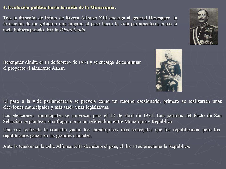 Tras la dimisión de Primo de Rivera Alfonso XIII encarga al general Berenguer la formación de un gobierno que prepare el paso hacia la vida parlamenta