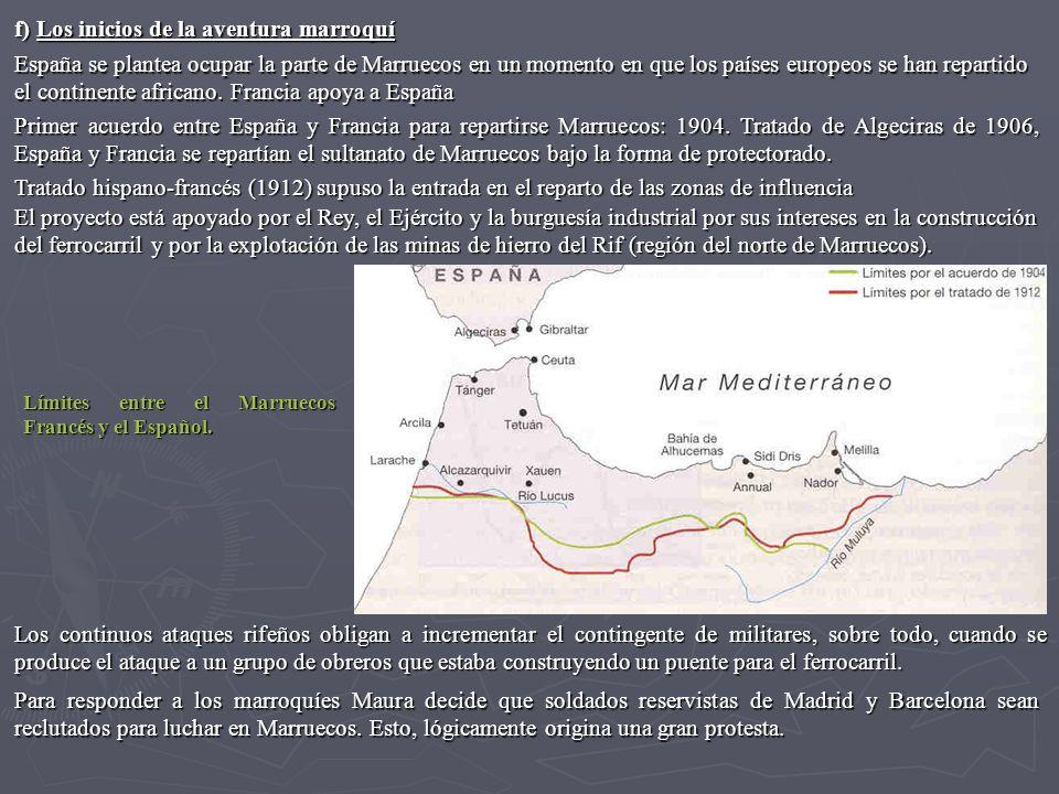 El día 18 de julio se produce el embarque de tropas en Cataluña y se inicia una movilización contra la guerra, que dura una semana, y en el que confluyen elementos anticlericales y antimilitares (Ley Jurisdicciones).