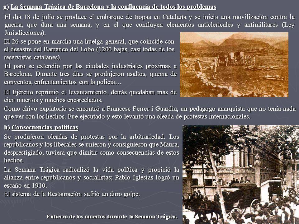 El día 18 de julio se produce el embarque de tropas en Cataluña y se inicia una movilización contra la guerra, que dura una semana, y en el que conflu
