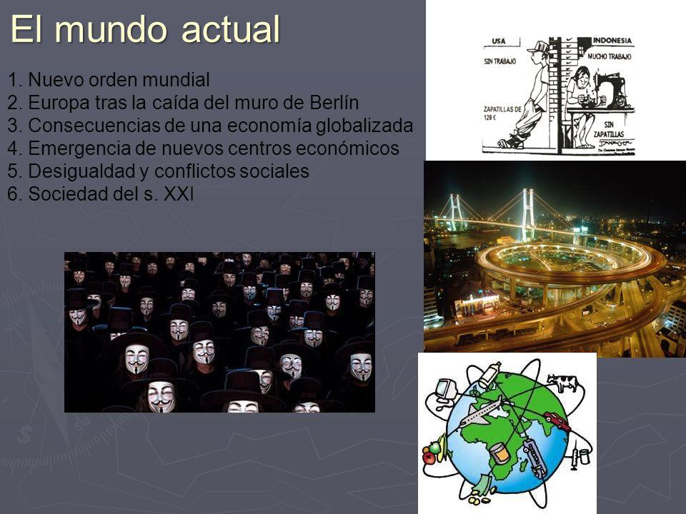 1.Nuevo orden mundial 2. Europa tras la caída del muro de Berlín 3.