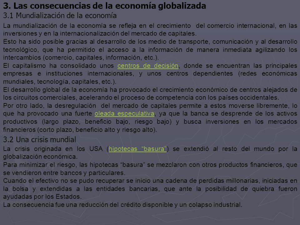 3.1 Mundialización de la economía 3.