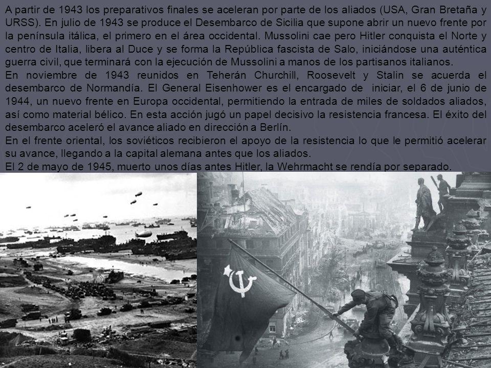 2.3 El triunfo aliado Aunque en la primavera de 1942 la situación era muy ventajosa para las potencias del Eje, las acciones llevadas a cabo en 1941 t