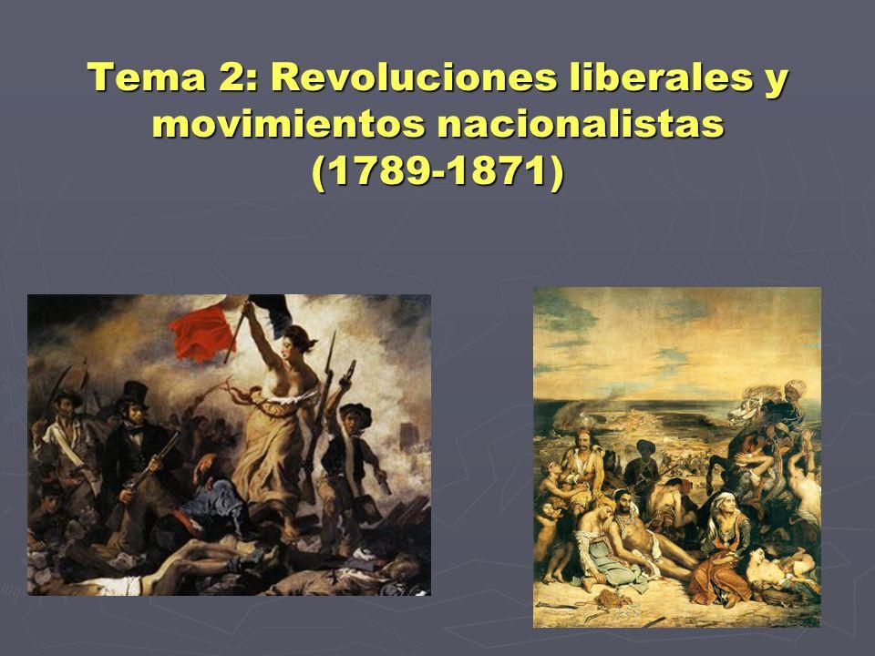Resultado de imagen de La epoca de las revoluciones liberales