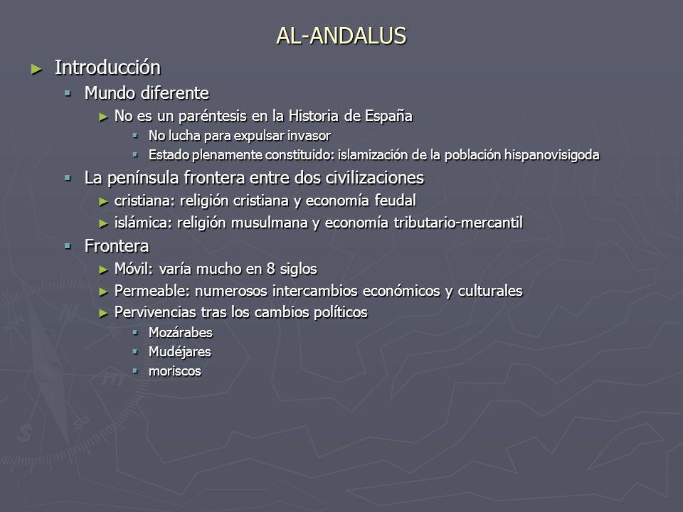 AL-ANDALUS Introducción Introducción Mundo diferente Mundo diferente No es un paréntesis en la Historia de España No es un paréntesis en la Historia d