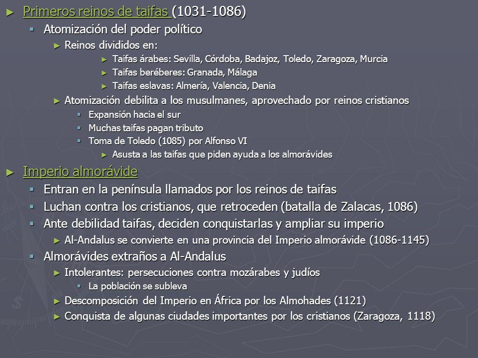 Primeros reinos de taifas (1031-1086) Primeros reinos de taifas (1031-1086) Primeros reinos de taifas Primeros reinos de taifas Atomización del poder