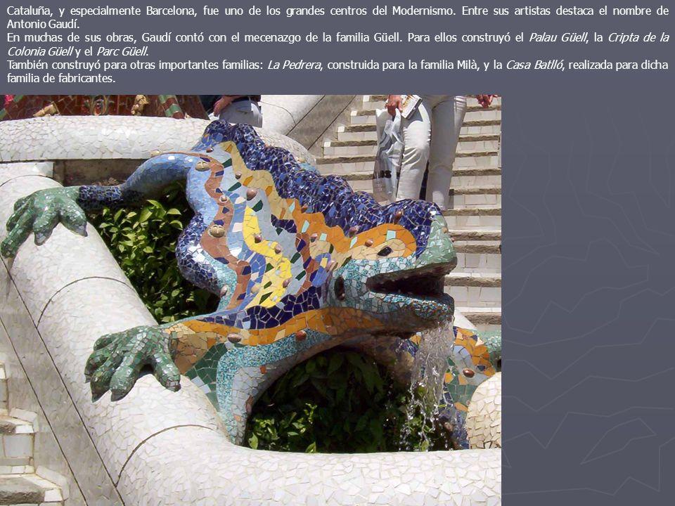 Cataluña, y especialmente Barcelona, fue uno de los grandes centros del Modernismo. Entre sus artistas destaca el nombre de Antonio Gaudí. En muchas d