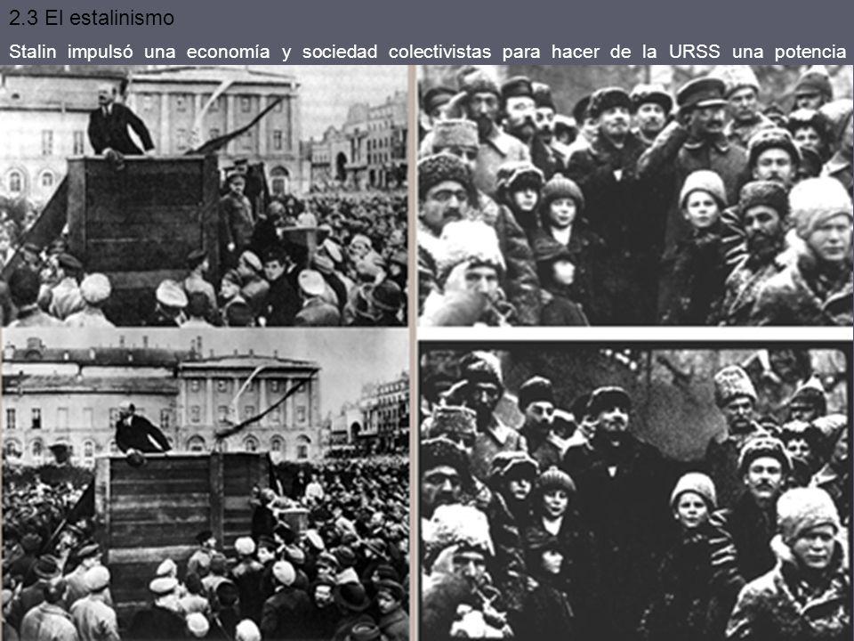 Stalin estableció una dictadura con culto a su persona. Todo sospechoso era acusado de desviacionista (PCUS) o burgués. La represión afectó a todas la