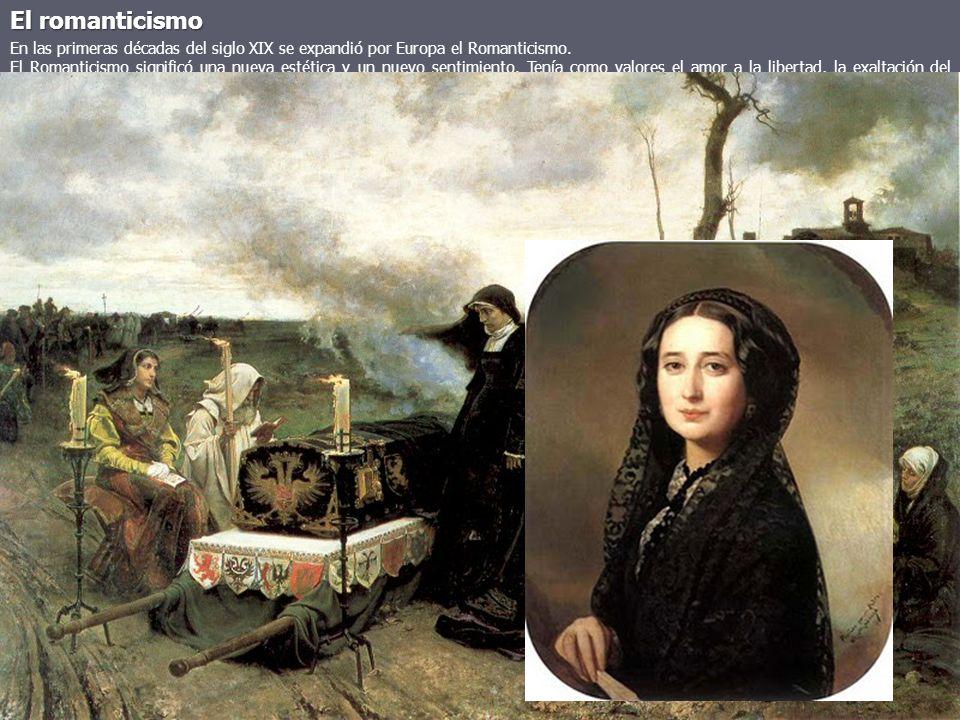 El romanticismo En las primeras décadas del siglo XIX se expandió por Europa el Romanticismo. El Romanticismo significó una nueva estética y un nuevo