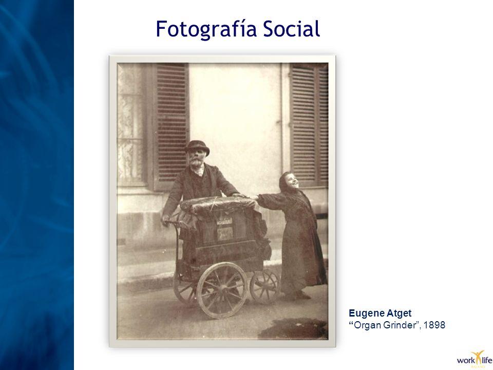 Fotografía Social Eugene Atget Organ Grinder, 1898