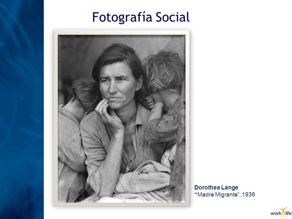 Fotografía Social Dorothea Lange Madre Migrante, 1936