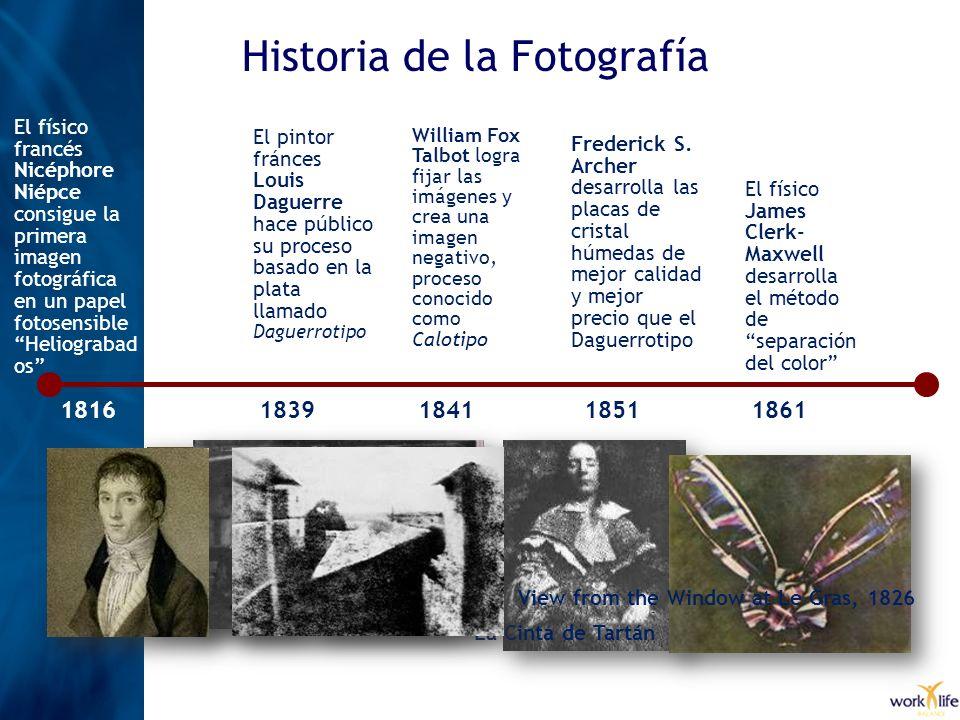 Historia de la Fotografía El fotógrafo británico Charles Bennet inventó una plancha seca recubierta con gelatina y bromuro de plata 1878 George Eastman funda su compañía Eastman Kodak Co.