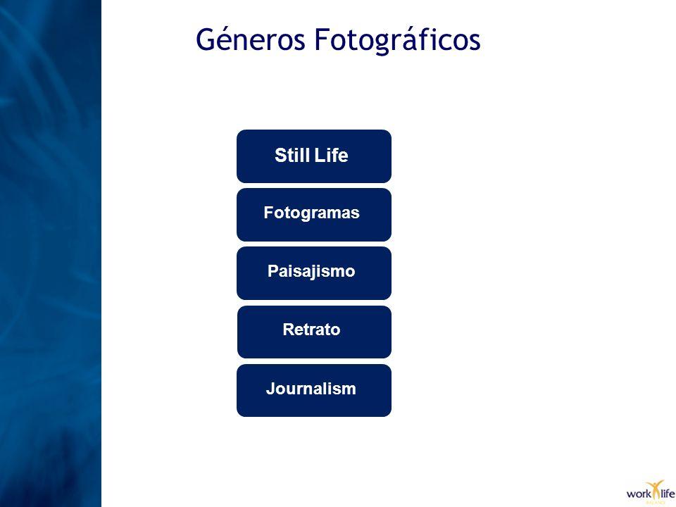 Géneros Fotográficos Still Life Fotogramas Paisajismo Retrato Journalism
