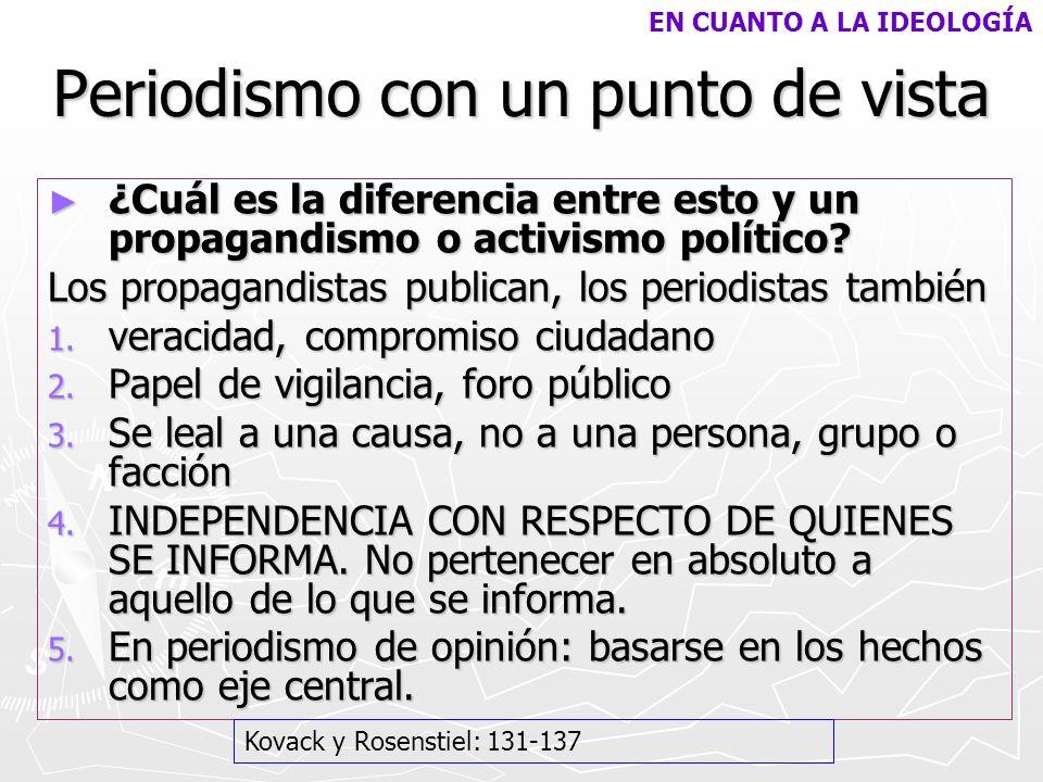 APLICACIONES PRÁCTICAS DE LA INDEPENDENCIA 1.Separar información de opinión (ibid, 137) 1.