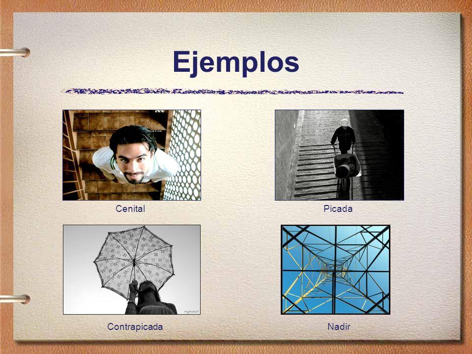 Ejemplos CenitalPicada ContrapicadaNadir