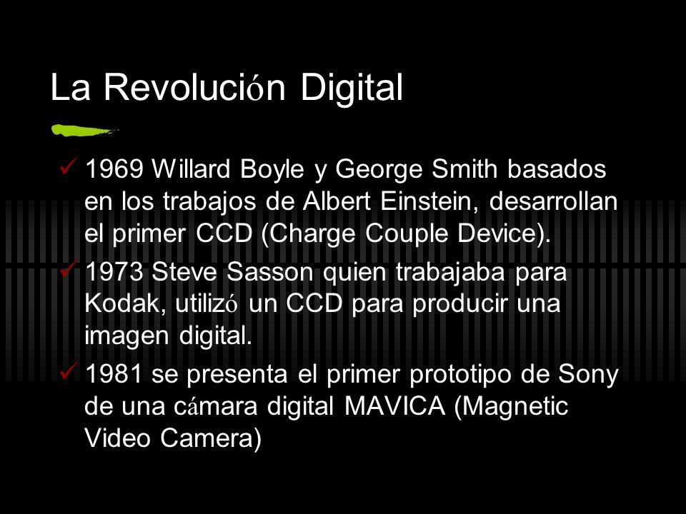 La Revoluci ó n Digital 1969 Willard Boyle y George Smith basados en los trabajos de Albert Einstein, desarrollan el primer CCD (Charge Couple Device)