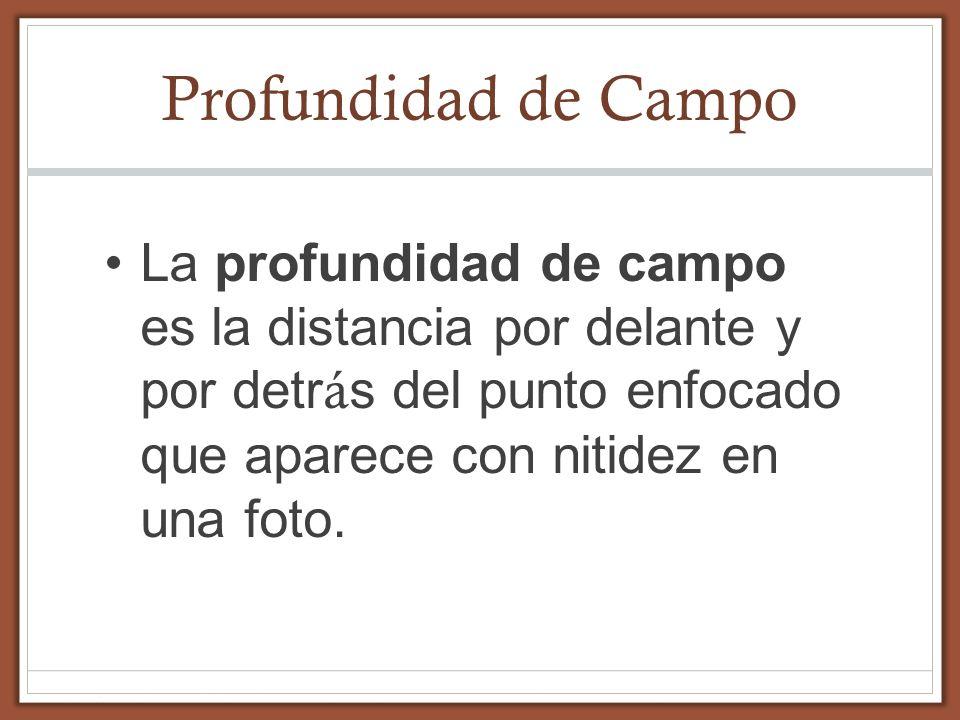 Ejemplos de Profundidad de Campo.