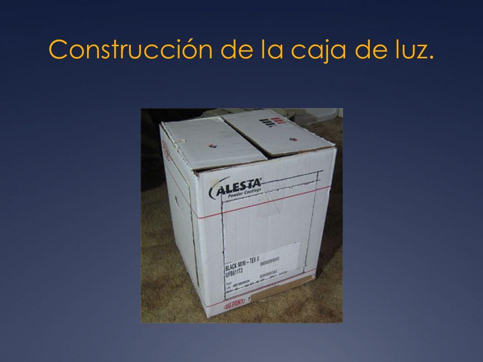 Construcción de la caja de luz.