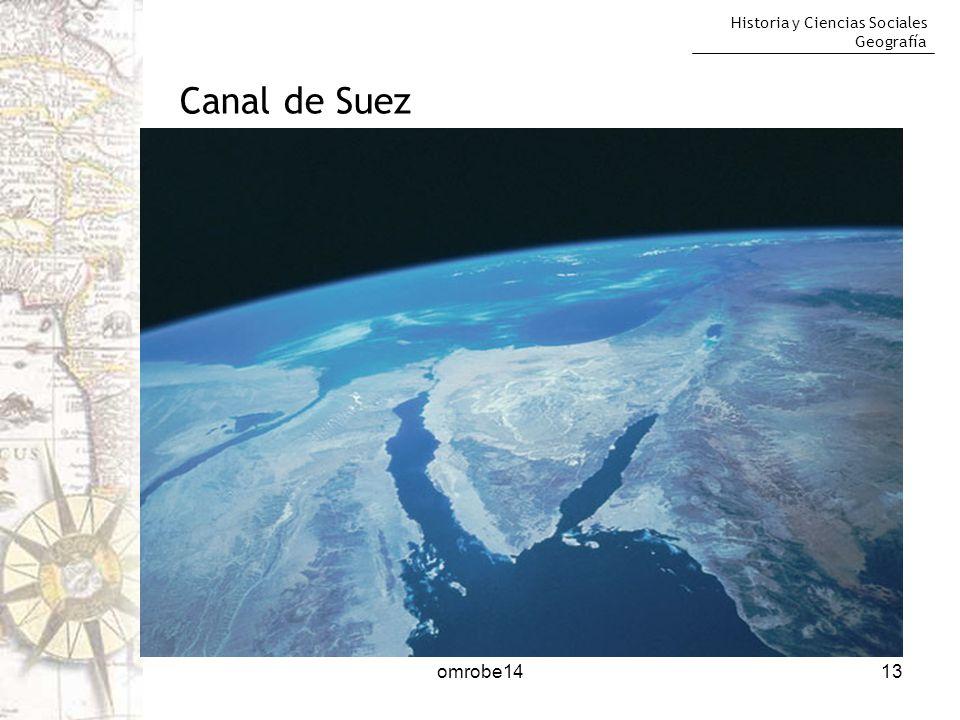 Historia y Ciencias Sociales Geografía 13 Canal de Suez omrobe14