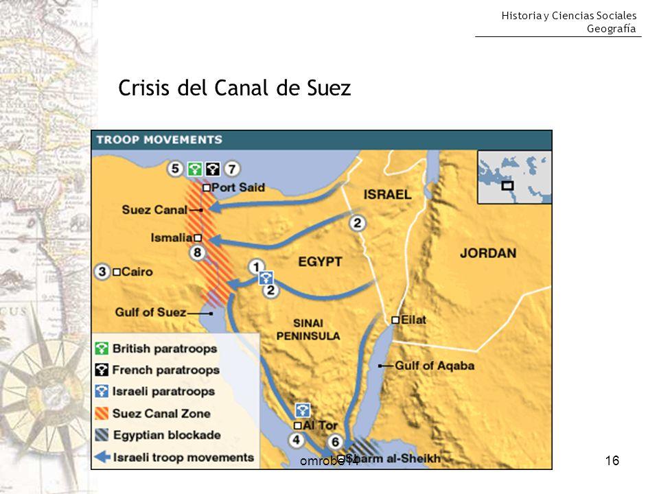Historia y Ciencias Sociales Geografía 16 Crisis del Canal de Suez omrobe14