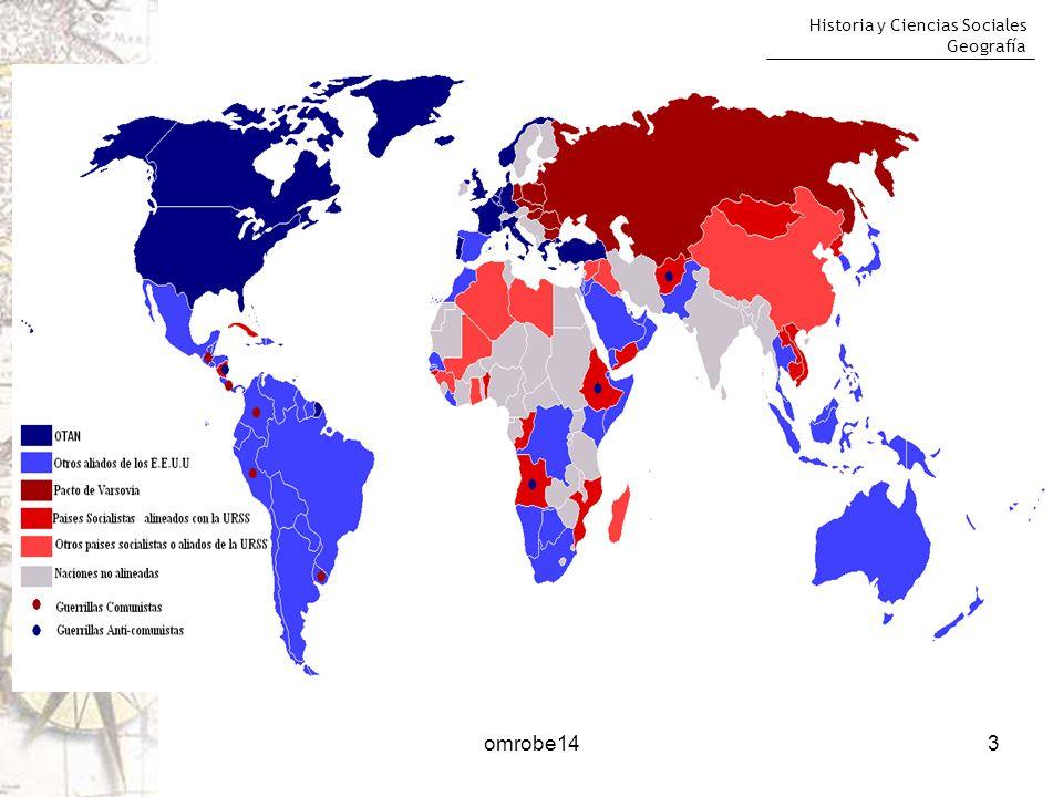 Historia y Ciencias Sociales Geografía 4 Formas de enfrentamiento: Carrera de armamentos Propaganda ideológica La subversión y el espionaje Las presiones Las guerras locales omrobe14
