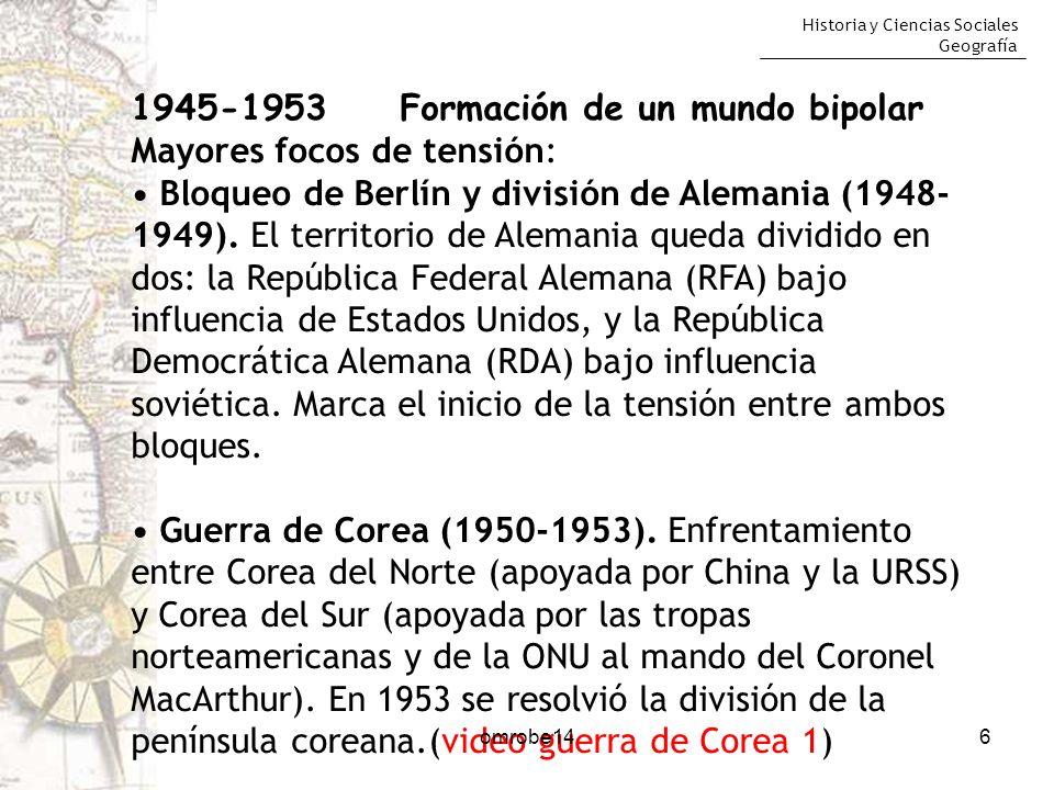 Historia y Ciencias Sociales Geografía 17omrobe14