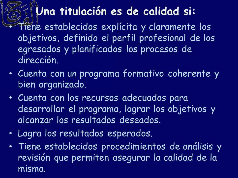 Tiene establecidos explícita y claramente los objetivos, definido el perfil profesional de los egresados y planificados los procesos de dirección. Cue