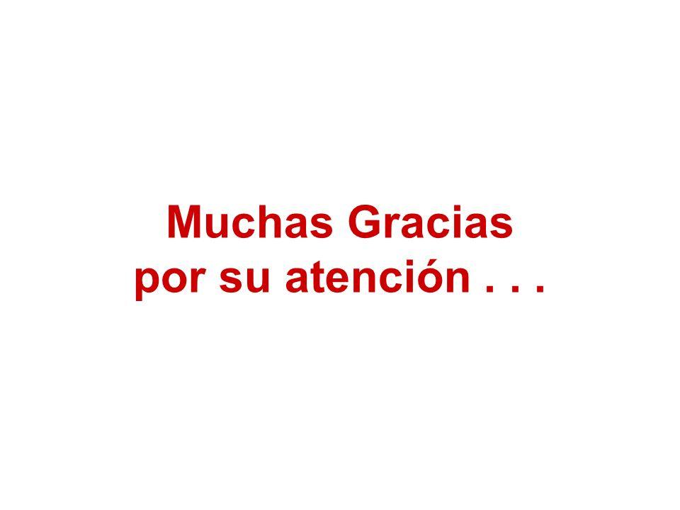 Muchas Gracias por su atención...