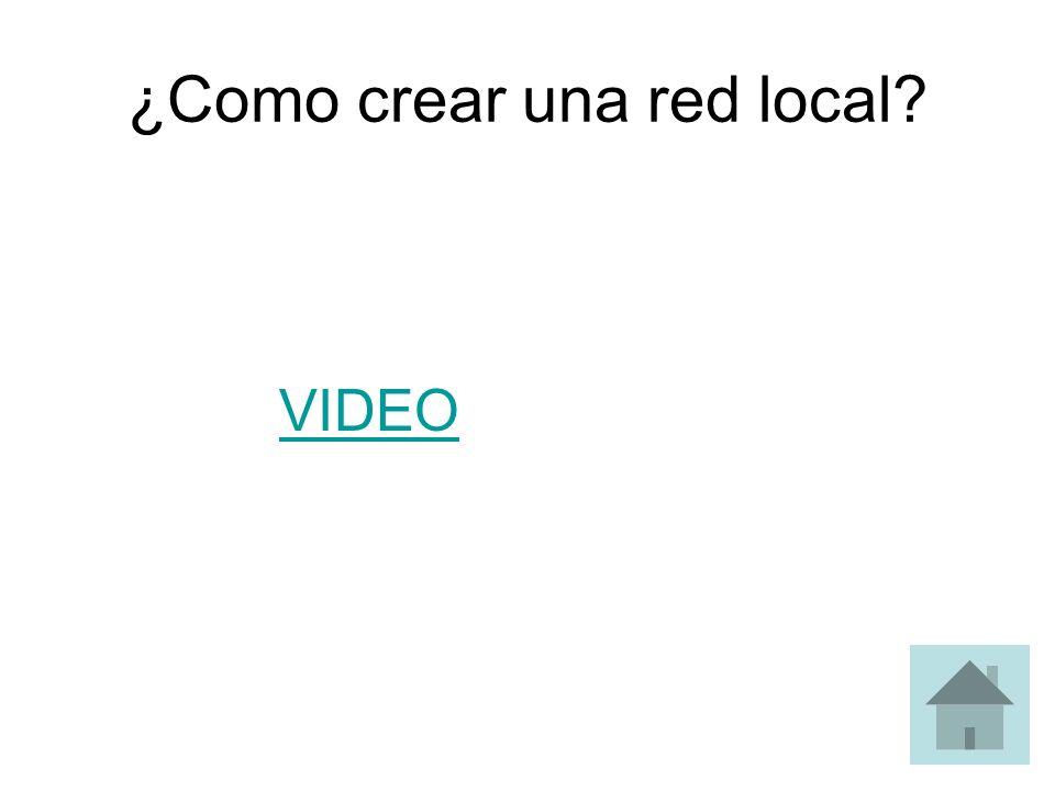 ¿Como crear una red local? VIDEO