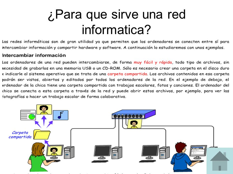 ¿Para que sirve una red informatica?