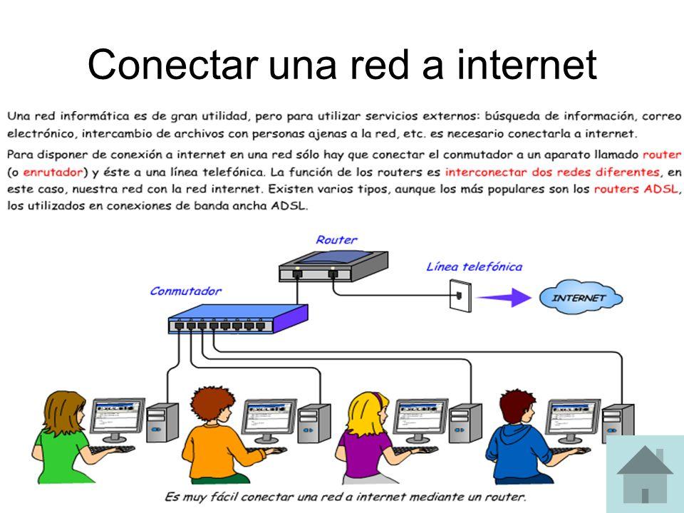 Conectar una red a internet