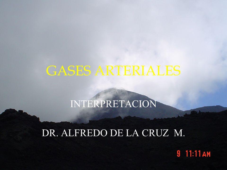 GASES ARTERIALES INTERPRETACION DR. ALFREDO DE LA CRUZ M.