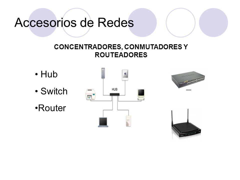 CONCENTRADORES, CONMUTADORES Y ROUTEADORES Hub Switch Router