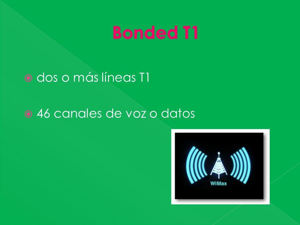 dos o más líneas T1 46 canales de voz o datos