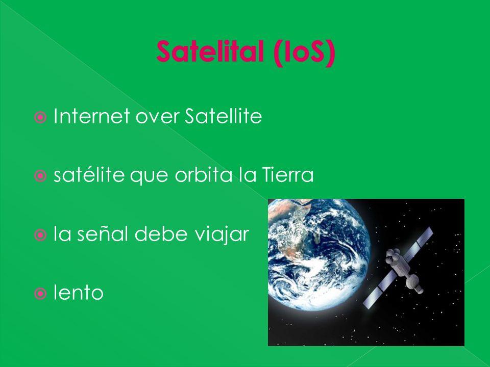 Internet over Satellite satélite que orbita la Tierra la señal debe viajar lento