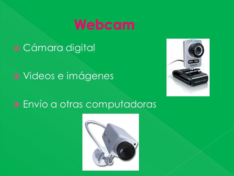 Cámara digital Videos e imágenes Envío a otras computadoras