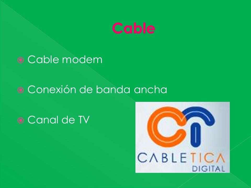 Cable modem Conexión de banda ancha Canal de TV